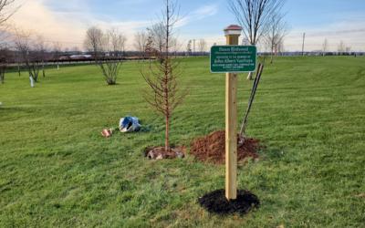 Tree Planting Ceremony in Memory of John Van Nuys 11/19/20